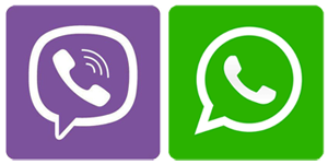 viber + whatsapp